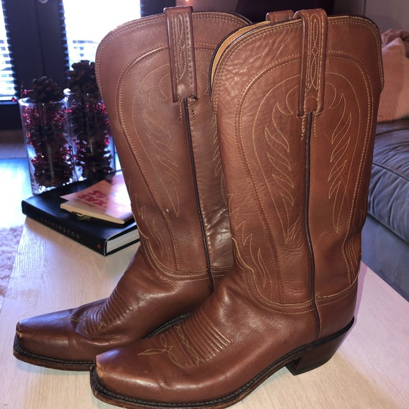 Lucchese Shoes - Women's Lucchese Goatskin cowboy boots